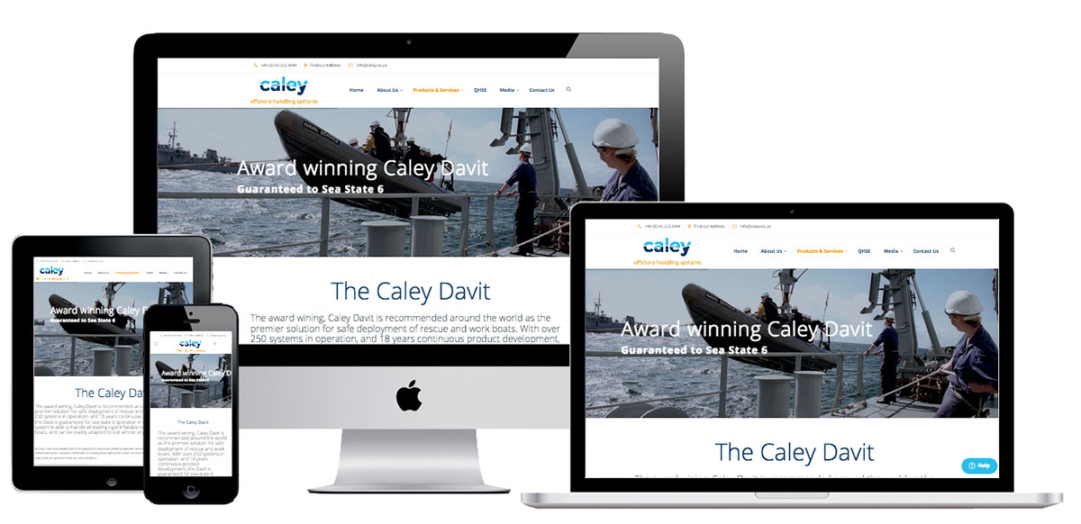 responsive website for caley offshore