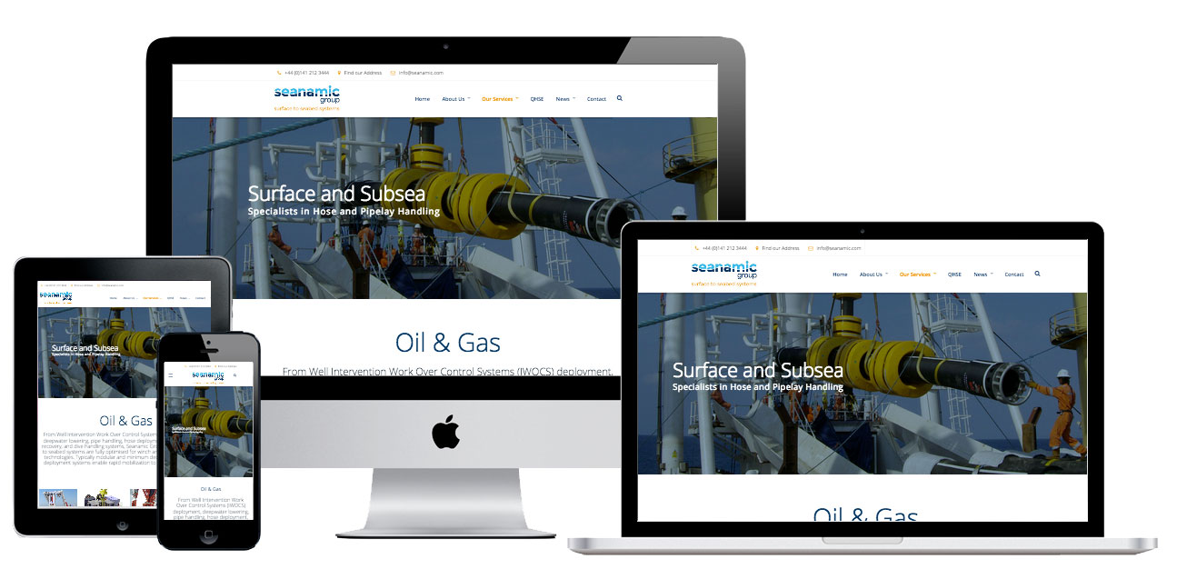 responsive website for seanamic group