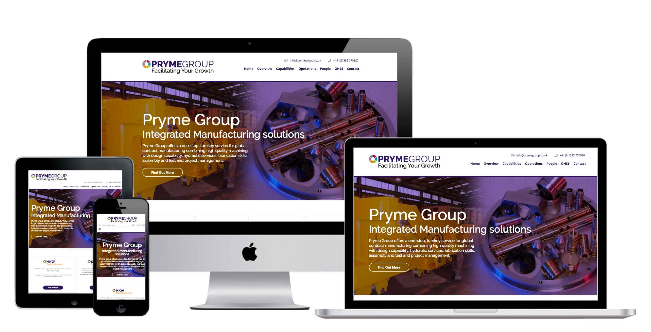 branding and responsive website for Pryme Group