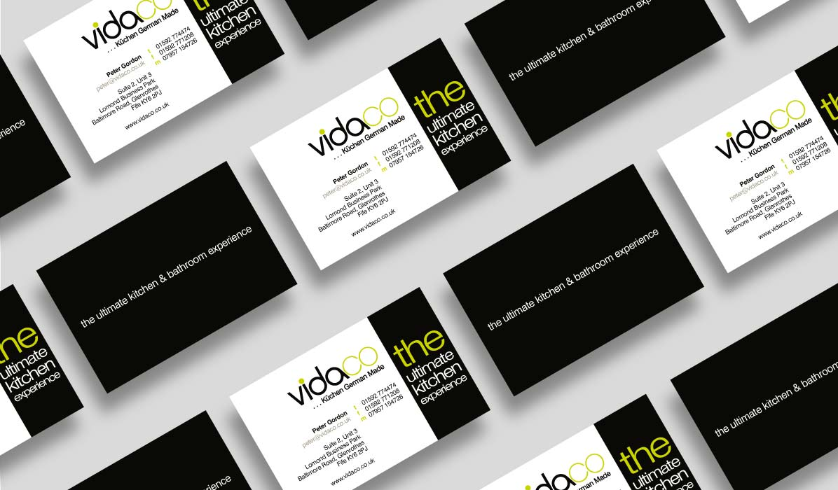 business card design for vidaco