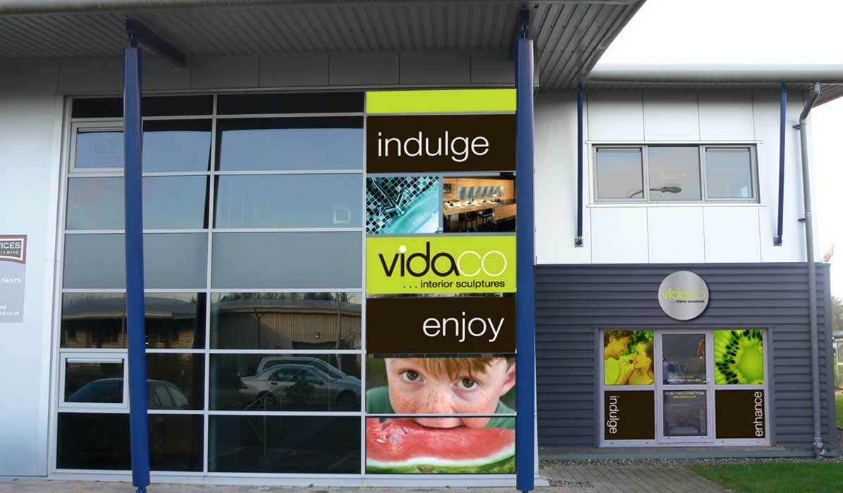 building signage design for vidaco